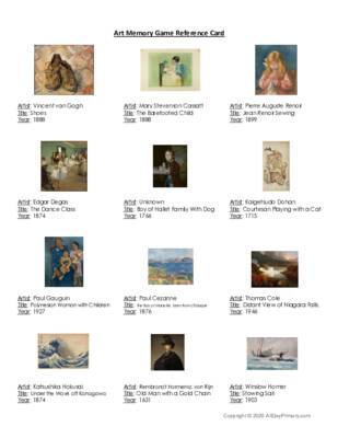 Art Memory Game Artists.pdf