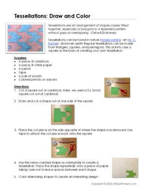 Tessellations-draw and color.pdf