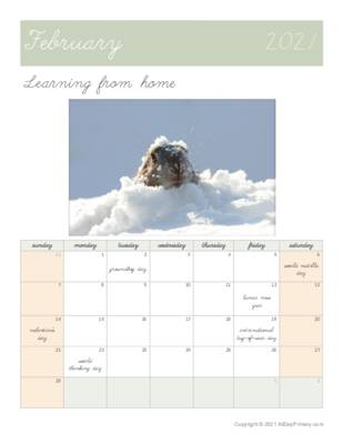 February 2021 Learning from home Calendar.pdf