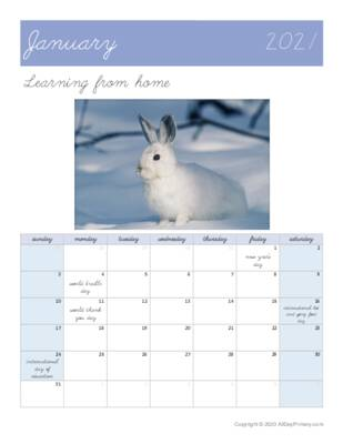 January 2021 Learning from home Calendar.pdf