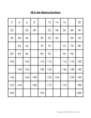Fill In the Missing Numbers-2.pdf