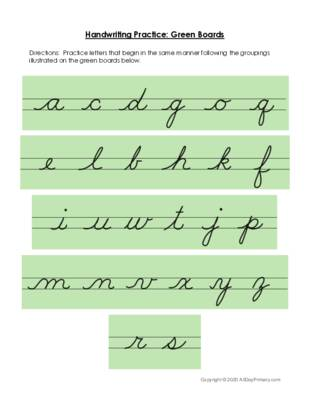 Handwriting Practice Green Boards.pdf