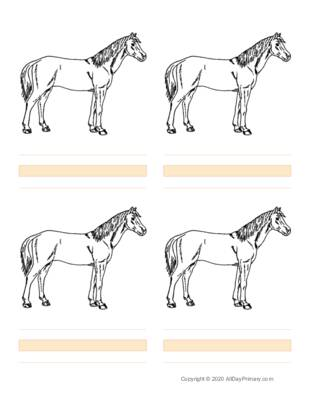 Parts of a Horse Writing Sheets.pdf