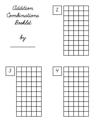 Addition Combinations Booklets for Home.pdf