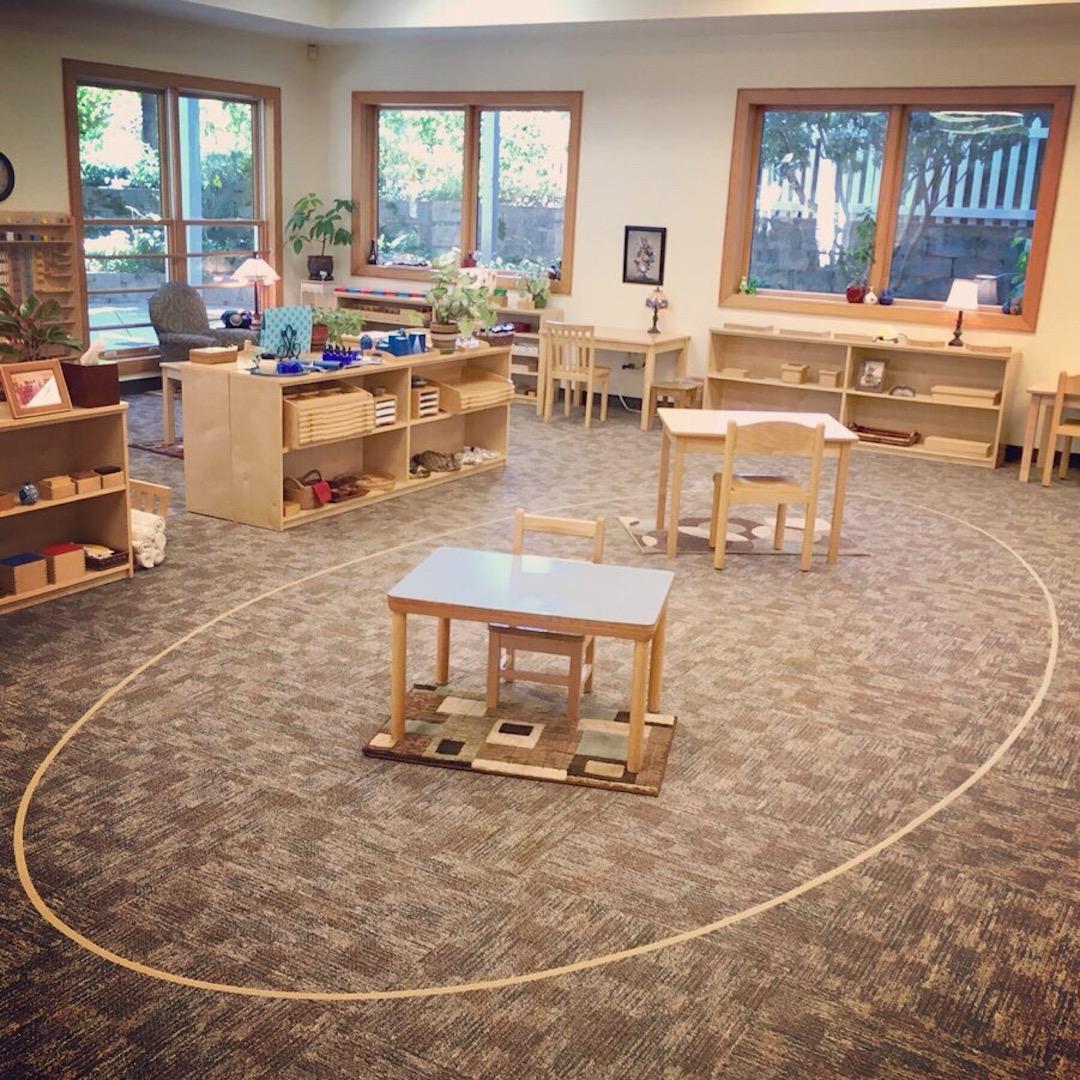 Elliptical Line in Classroom