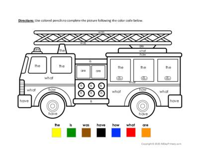 Color by Puzzle Words Fire Truck.pdf