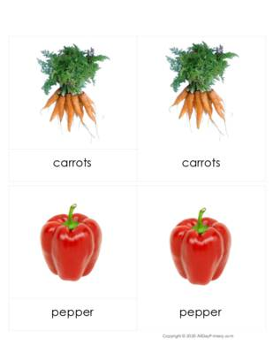 Vegetables Three Part cards.pdf