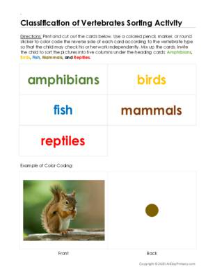 Classification of Vertebrates Sorting Activity.pdf